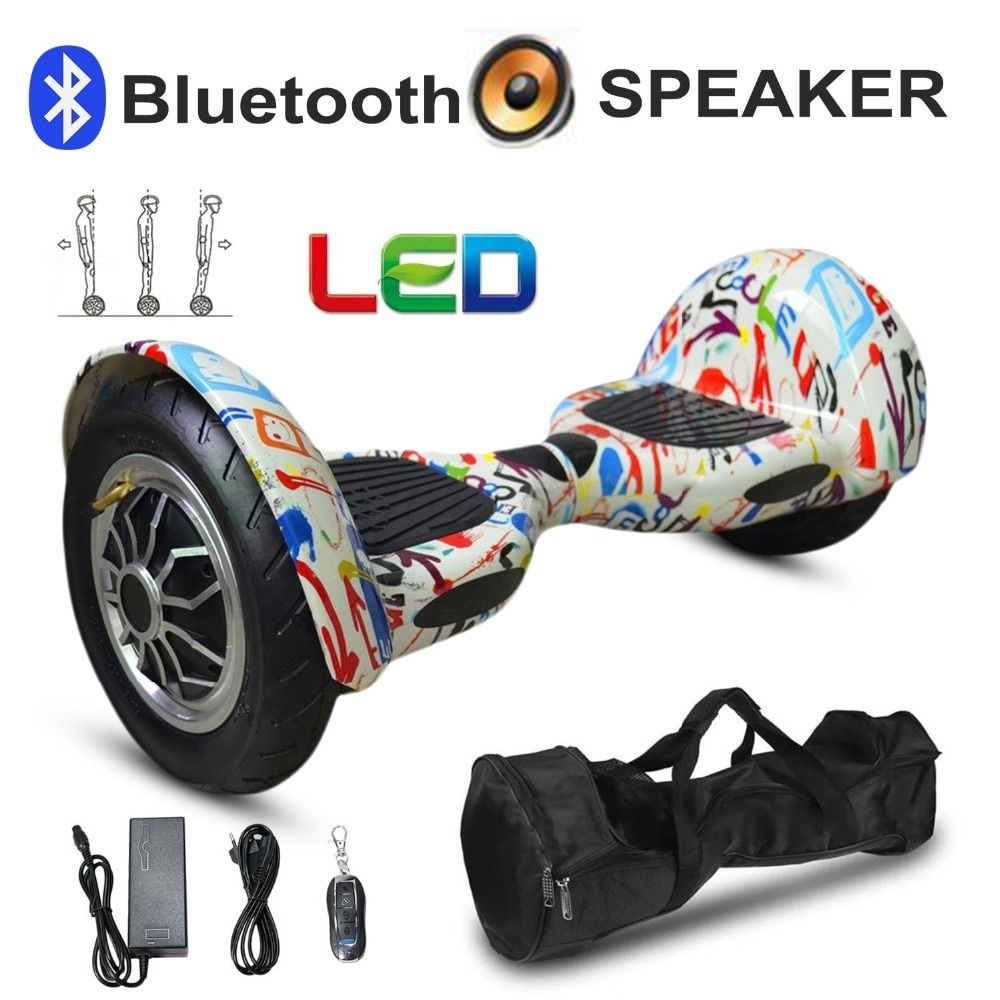 10 Inch Tyre Hoverboard Two Wheels Bluetooth Self Balance Scooter Smart Hover Board Perfect Gift EU Plug
