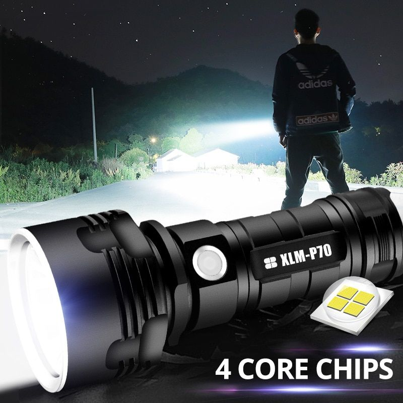 Super puissant lampe de poche LED L2 XHP50 torche tactique USB Rechargeable Linterna lampe étanche Ultra lumineux lanterne Camping