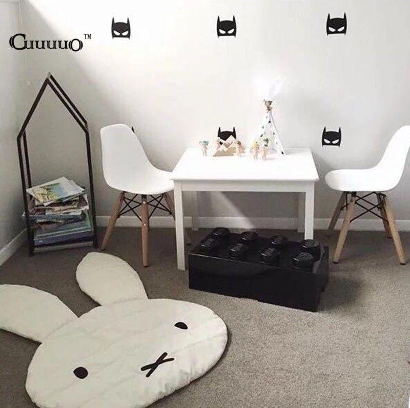 INS Cute Rabbit Crawling Blanket Carpet Floor Baby Bunny Play Mats Children Room Decoration Play <font><b>Rugs</b></font> Creeping Mat Size 106*68CM