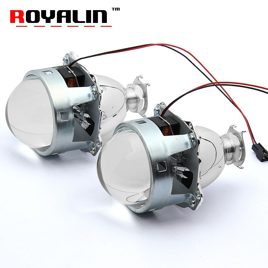 Royalin автомобиль-Стайлинг HID H1 би ксенон объектив проектора 3.0 дюймов металлический LHD rhd для H4 H7 9005 9006 Авто свет модернизации