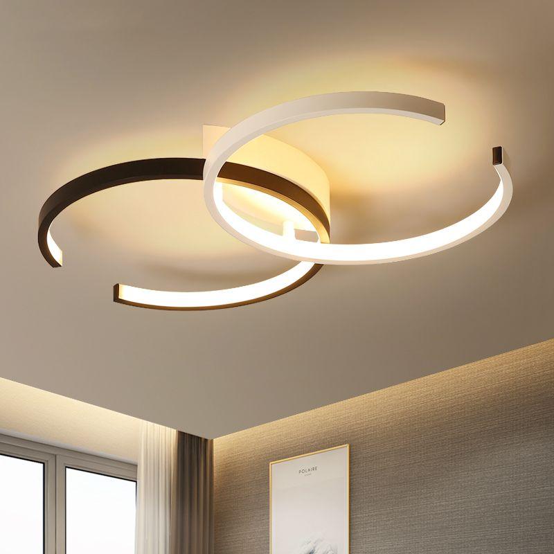 Creative Fashion Ceiling Lamp Led Ceiling Light for foyer Living room Bedroom Kitchen Black and White C Ceiling Lamp 110V 220V