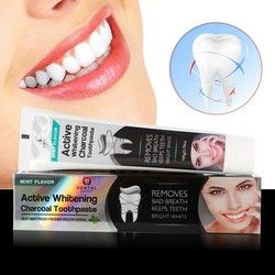 Charbon De bambou Dentifrice Blanchissant Dentifrice Noir Charbon Dentifrice Hygiène Bucco-dentaire Dentifrice