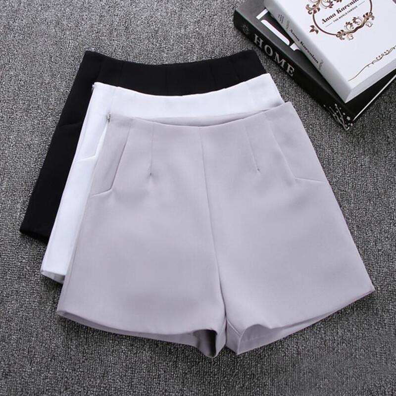2019 nouveau été chaud mode nouvelles femmes Shorts jupes taille haute décontractée costume Shorts noir blanc femmes pantalons courts dames Shorts
