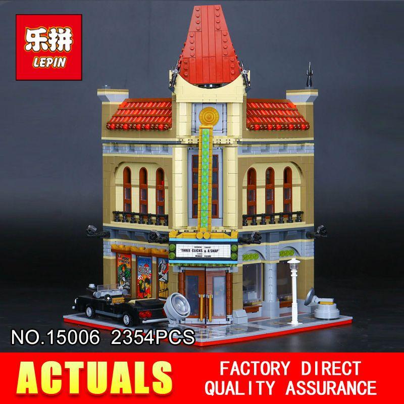 2016 New LEPIN 15006 2354pcs Creator Palace Cinema Model Building Blocks set Bricks Toys Compatible 10232 BrickGift