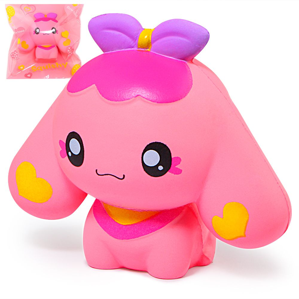 Jumbo Kawaii Squishy Cartoon Dog Puppy Squishies Slow Rising Bread Scented Squeeze Toys Original Package