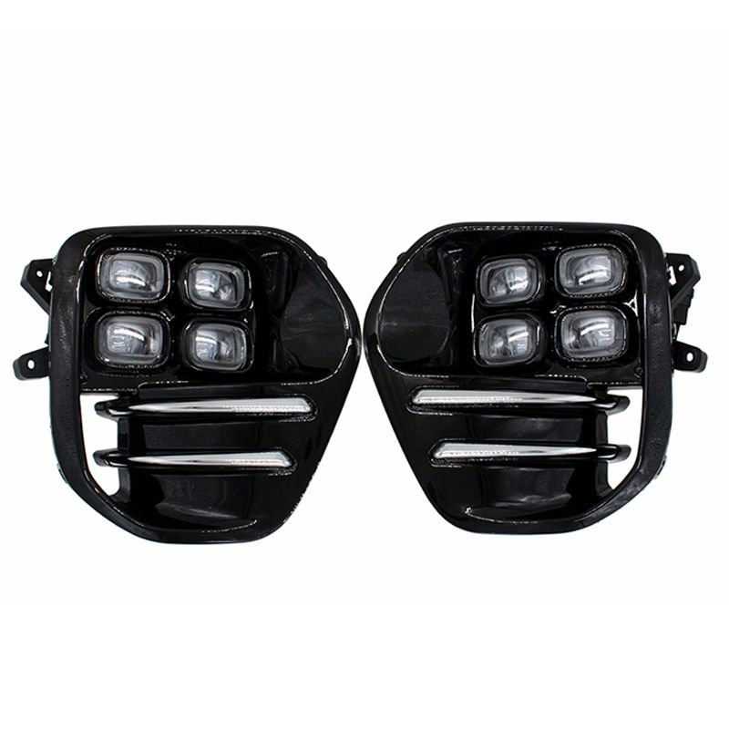 2Pcs/Set SUNKIA LED DRL Car Daytime Running Light Fog Lamp for KIA Sportage KX5 2016 2017 2018 Cay Styling Free Shipping