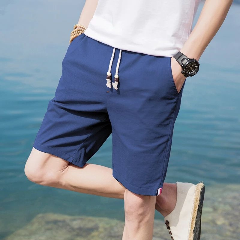 Pure color casual shorts
