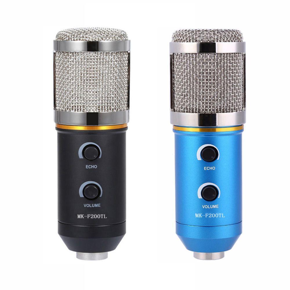 TGETH MK-F200TL Microphone Adjustable <font><b>Sound</b></font> Volume Noise Reduction Condenser KTV Audio Studio Recording Mic Update MK-F100TL