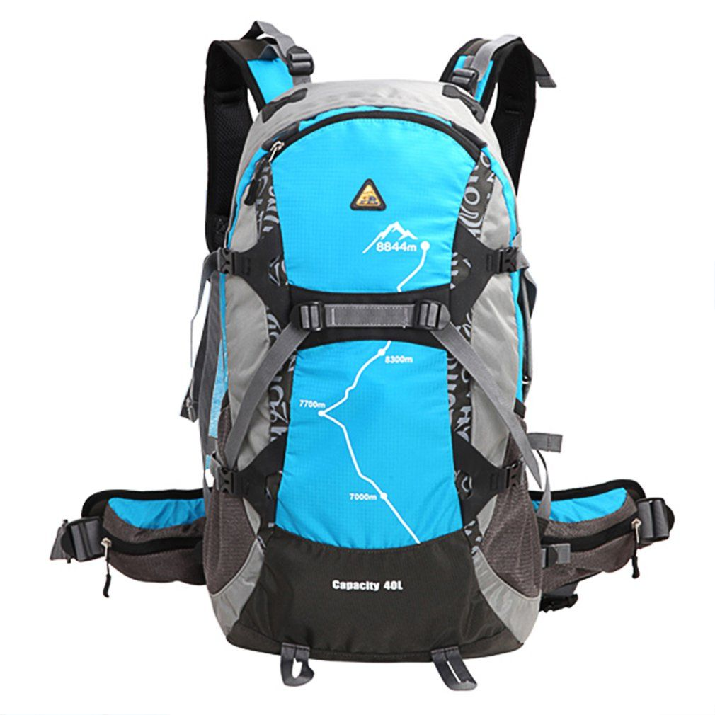 KIMLEE 35L Men Women Sport Backpack Bag with Rain Cover 3D Waterproof Camping Mountaineering Travel Hiking Backpack 5 Colors
