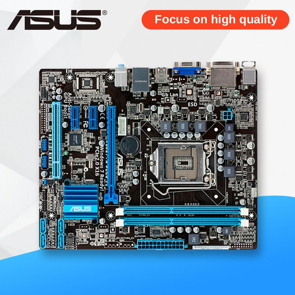 Asus P8H61-M PLUS V2 Desktop Motherboard H61 Socket LGA 1155 i3 i5 i7 DDR3 16G uATX On Sale