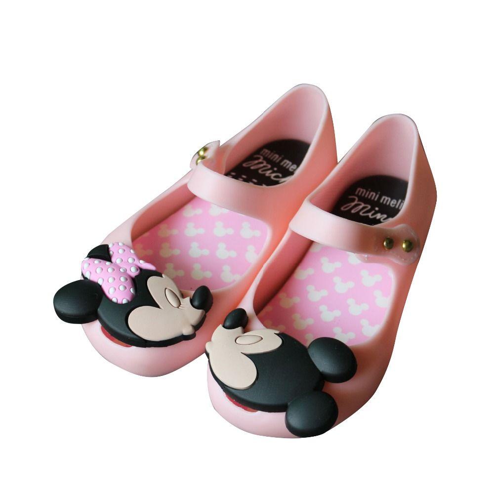 Мини Мелисса 2018 новый летний Обувь для девочек Босоножки sandalen Алиса в стране чудес Melissa детская Сандалии для девочек пляжная обувь