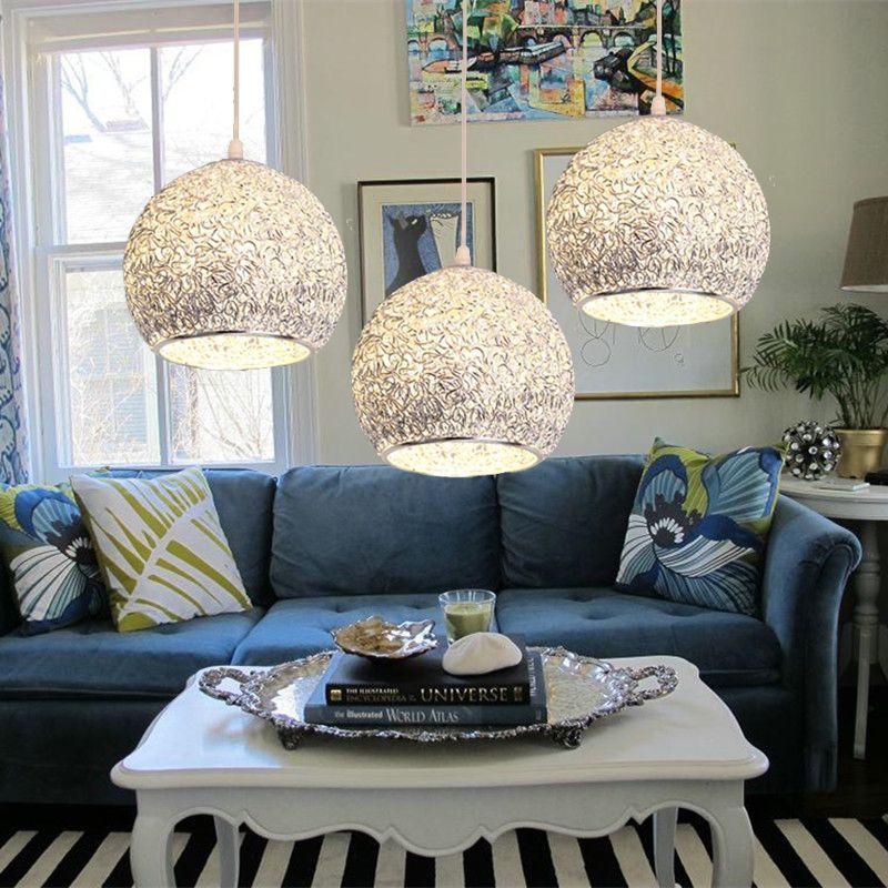 Îlot de cuisine Pendentif Lumière Bar Moderne Lumières Chambre D'éclairage En Aluminium Bureau Argent Plafonnier Ampoule Comprennent 1 pcs Lampe