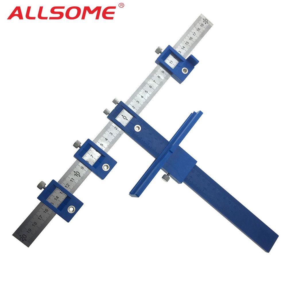ALLSOME 5mm perceuse Guide manchon armoire matériel gabarit tiroir tirer gabarit bois forage goujon trou scie système maître HT2341