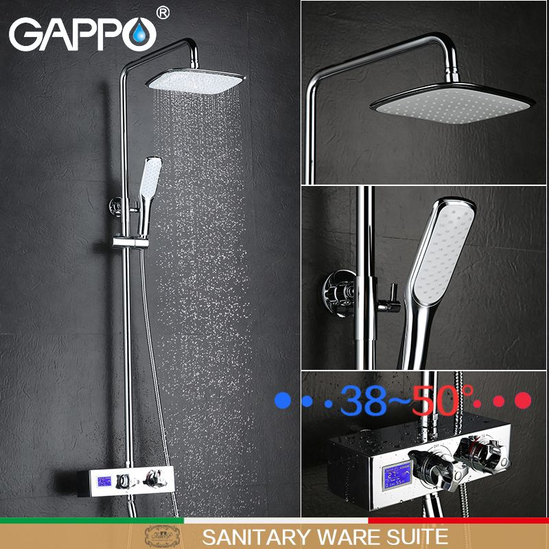 GAPPO bathtub faucet waterfall mixer faucet bathtub shower mixer taps deck mounted thermostatic faucets water bathroom taps