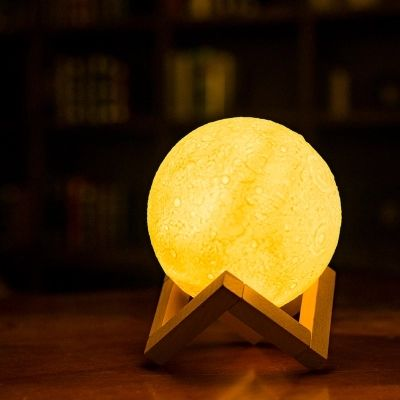 Rechargeable 3D night Lights Print Moon Lamp Color Change Touch Switch Bedroom Bookcase Usb Led Night Light Home Decor Creative