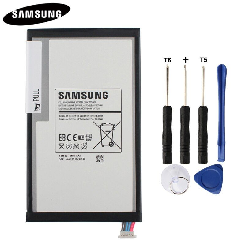 100% Original Tablet Battery T4450E For Samsung <font><b>GALAXY</b></font> Tab 3 8.0 T310 T311 T315 Genuine Replacement Batterries 4450mAh