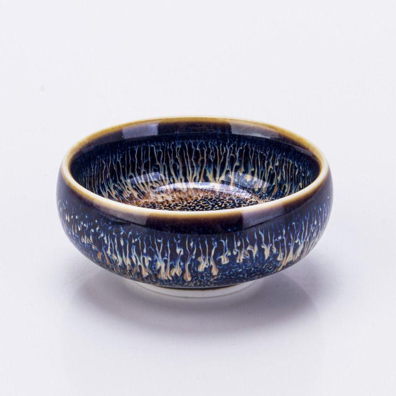 Jingdezhen céramique Pu'er thé tasse chinois Kung Fu thé Set tasse Temmoku Istikan Taiwan Tianmu tasse glaçure four thé tasse S $