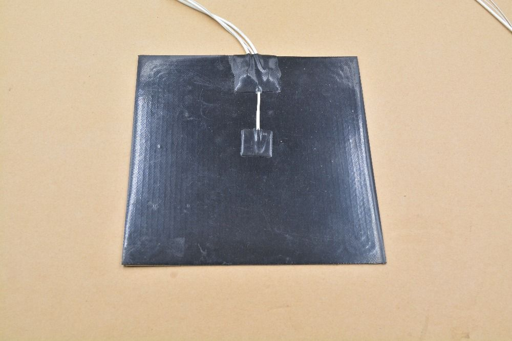 Silicone heating pad heater black silicone plate 250mmx250mm for 3d printer heat bed 1pcs