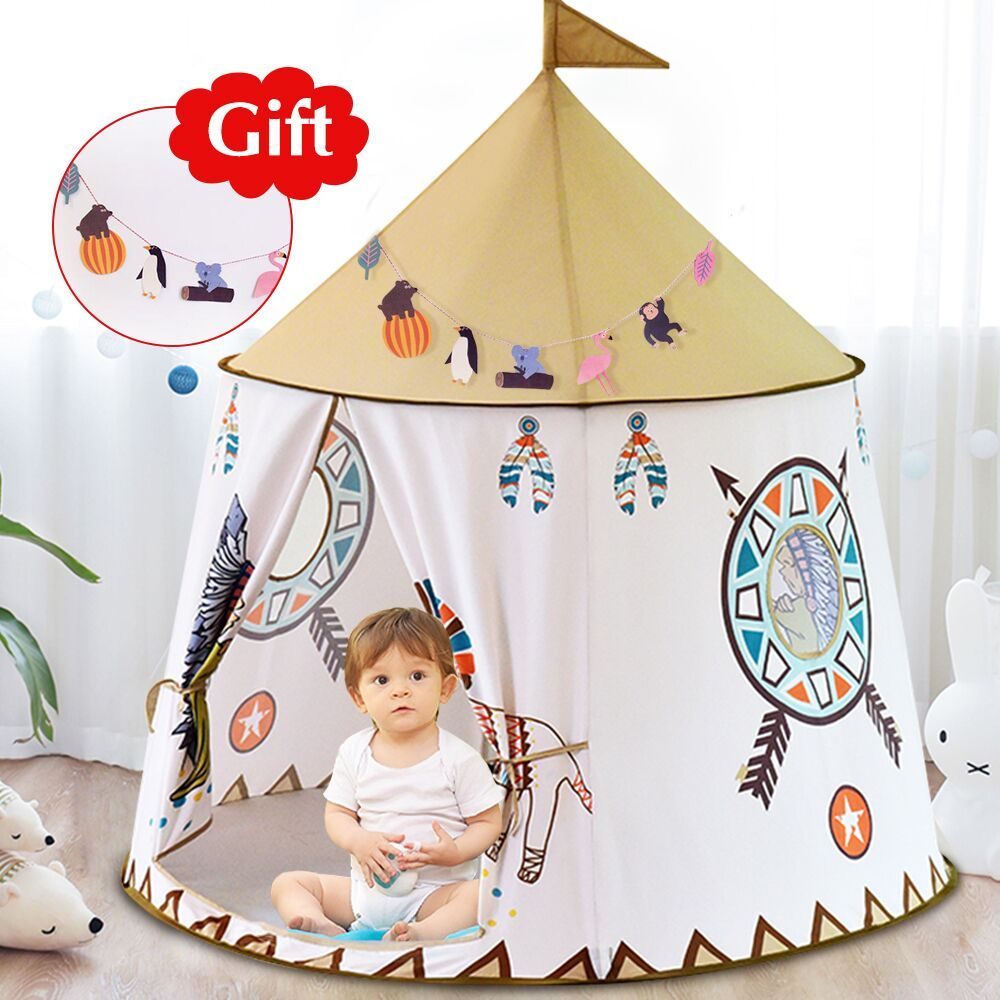 YARD Portable Princess Castle <font><b>Play</b></font> Tent Children Teepee Tent Children's Tent Playhouses for Kids
