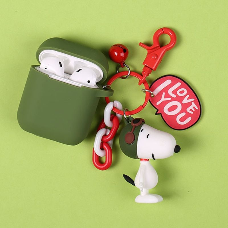 Cute Cartoon Dog Silicone Case for Apple Airpods Bluetooth Wireless Earphone Accessories 1 2 Case Headset Protective Cover Bag