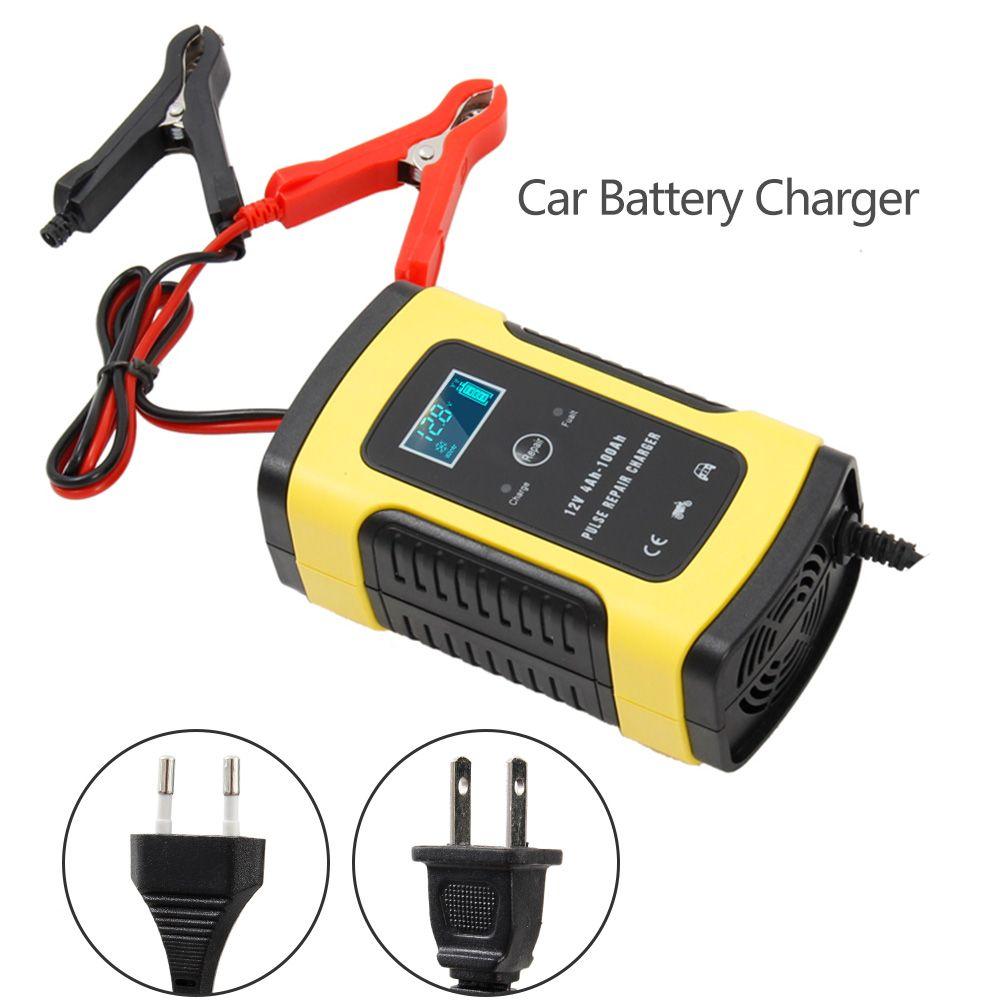 Entièrement Automatique chargeur de batterie De Voiture 110 V À 220 V À 12 V 6A Intelligent Rapide Puissance De Charge Humide Sec Plomb acide Numérique écran lcd