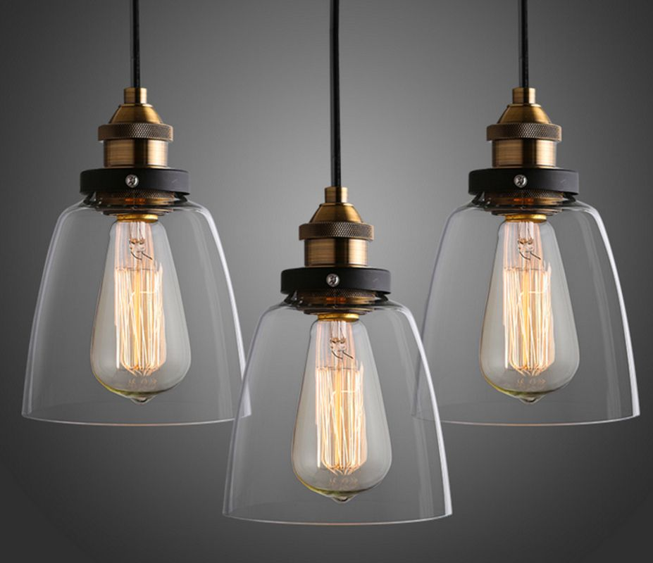 Vintage Pendant Lights Glass Led Suspension Luminaire Loft Retro E27 Lamp Lamparas Colgantes Industrial Home Lighting ZDD0028