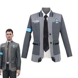 Spiel Detroit: werden Menschliches Connor Cosplay Kostüm RK800 Mittel Anzug Halloween Karneval Uniformen männer Formale Mantel + Tie Nach Maß