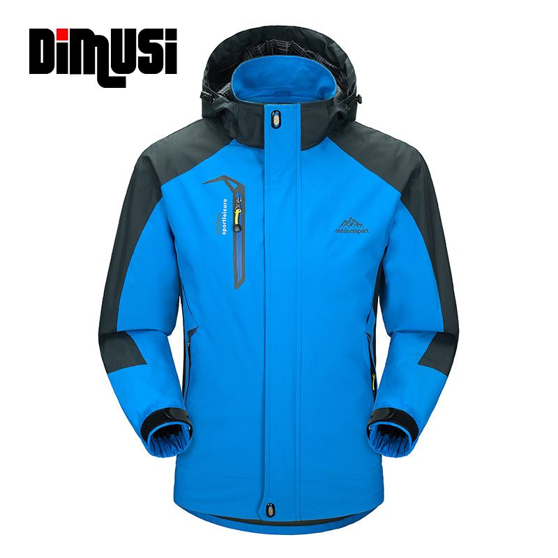 DIMUSI Casual Jacket Men 2018 Man's Spring Autumn Army Waterproof Windbreaker Jackets Male Breathable UV protection Overcoat 5XL