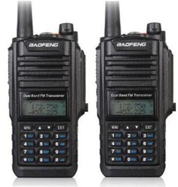 2 pcs Baofeng BF A58 radio talkie walkie étanche IP 67 UHF VHF double bande CB radio pour la chasse 5 w 128CH émetteur-récepteur