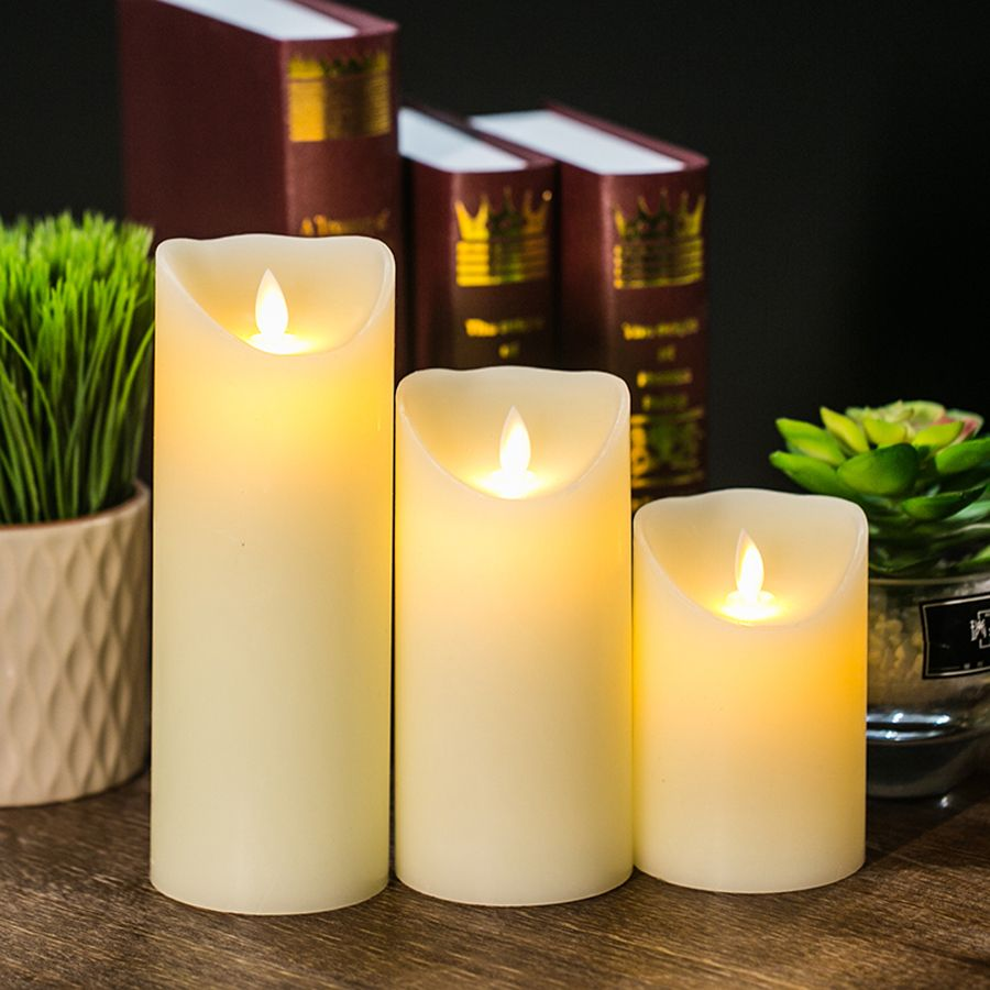 LED électronique sans flamme bougie lumières télécommande Simulation flamme clignotant bougie lampes décoration domestique 2017 nouveau