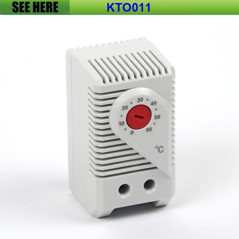 Envío Gratis Compacto 0 + 60 Ddegree Conexión Termostato Regulador De Temperatura Ajustable Del Calentador Para El Gabinete KTO 011
