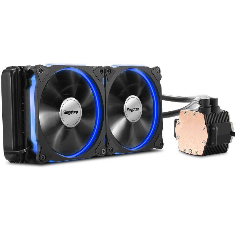 Aluminium CPU Wasser Kühler 240 Prozessor Doppel PWM 120mm LED Lüfter Flüssigkeit Wasserkühlung Kühler PC Fall Desktop