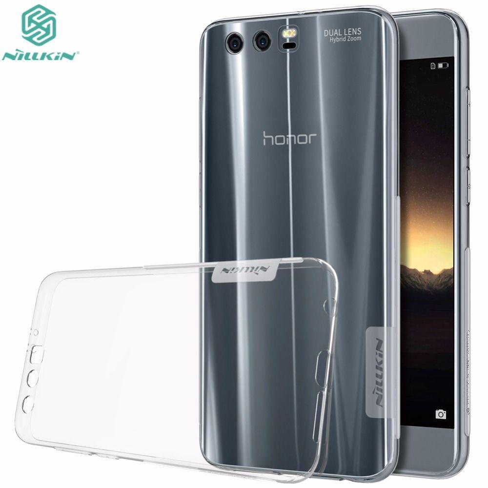 Huawei Honor 9 Caso de 5.15 pulgadas Genuino NILLKIN Naturaleza Claro TPU transparente Caso de la Cubierta Suave Para Huawei Honor 9 Teléfono Bolsa