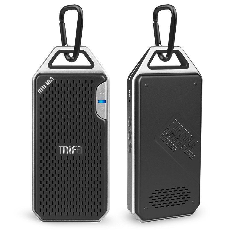 MIFA F4 Drahtlose Bluetooth Lautsprecher Mit Mic Micro SD Haken tragbare bluetooth lautsprecher Aluminium Legierung Gehäuse schock widerstand