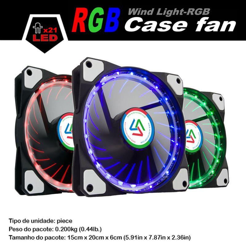 ALSEYE 120mm Computer EGB Fan, Multicolor LED Fan Cooler / Water Cooling Fans 12V 1100RPM PC Case Light Fan