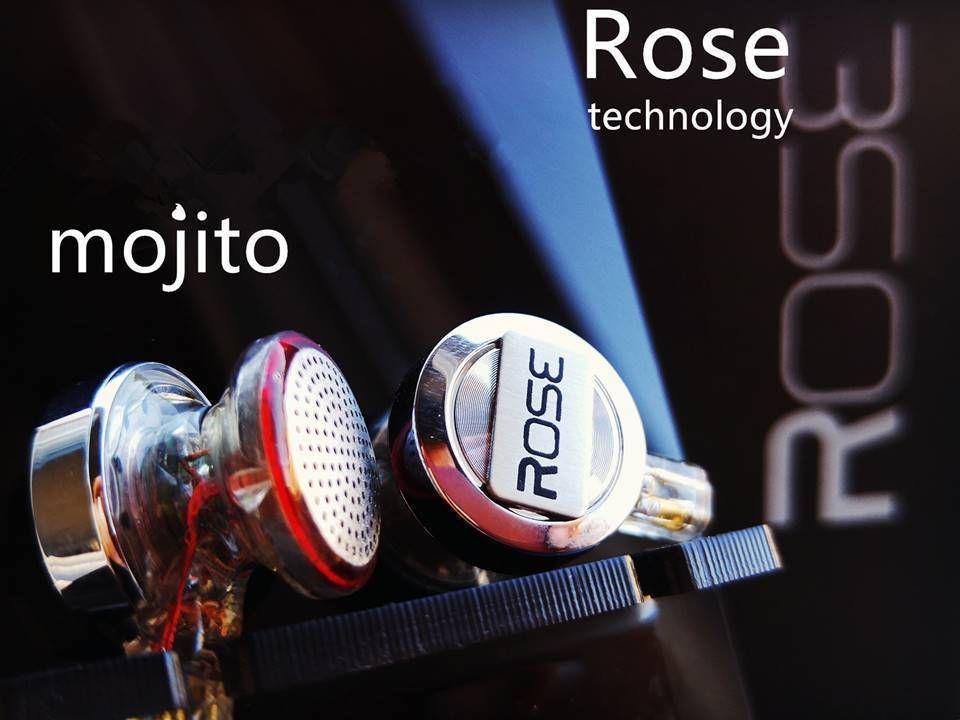 Rose Mojito 3D Ver Dual Dynamic Flagship HiFi Audiophile Music Monitor DJ Studio Detachable Cable Earbuds Earphones