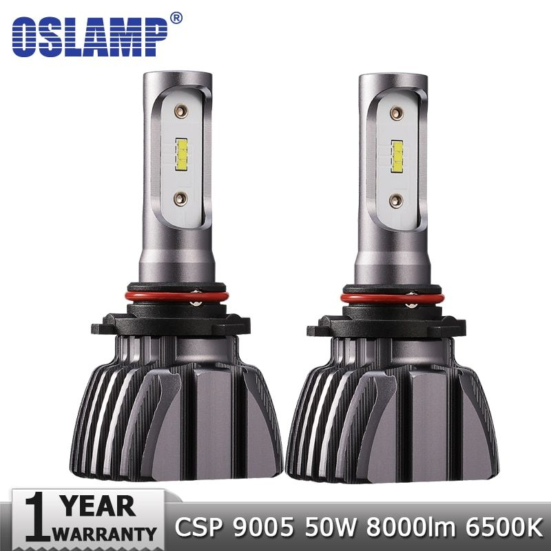 Oslamp 9005 Car LED Headlight Bulbs HB3 50W 8000lm 6500K Auto Led Headlamp Led Light Bulb CSP Chips Led Headlights Lamp 12v 24v