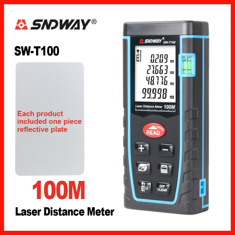 <font><b>SNDWAY</b></font> Laser Distance Meter Range Finder Rangefinder 40m 60m 80m 100m Electronic Tape Trena Ruler Tester Hand Tool Device Build