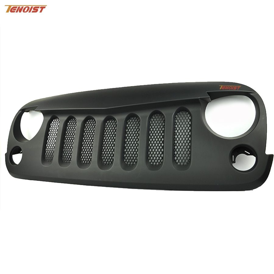 Car-Styling Black ABS Front Racing Grille With Bug Screen For Offroad Wrangler JK 2007-2015