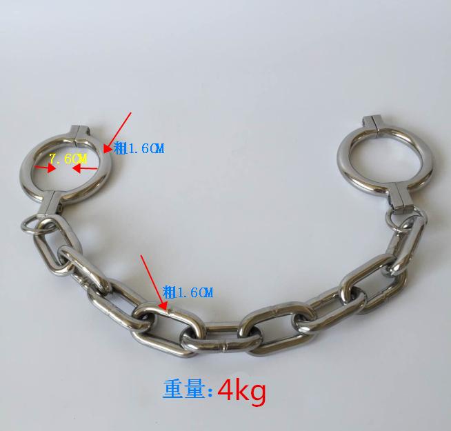 New 4kg/2.4kg Heavy stainless steel legcuffs bdsm bondage restraints sex slave Shackle fetish adult games sex toys for couples