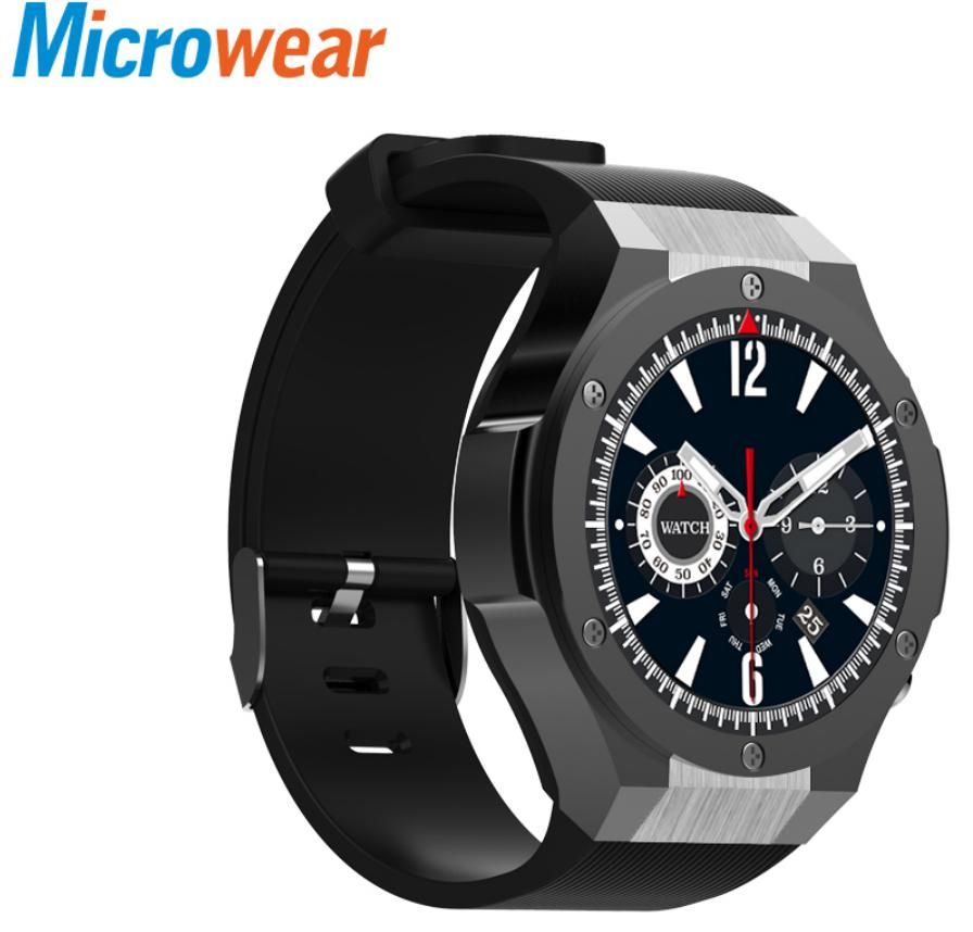 Microwear H2 android ios 1G+16GB Smart watch 1.39 inch mtk6580 SmartWatch phone Wifi GPS Quad Core 5.0MP Camera Heart Rate Watch