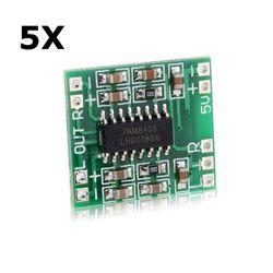 LEORY 5pcs/lot Miniature Digital Amplifier Board 2x3W PAM8403 USB Operational Amplifier Chip Board 2.5-5V
