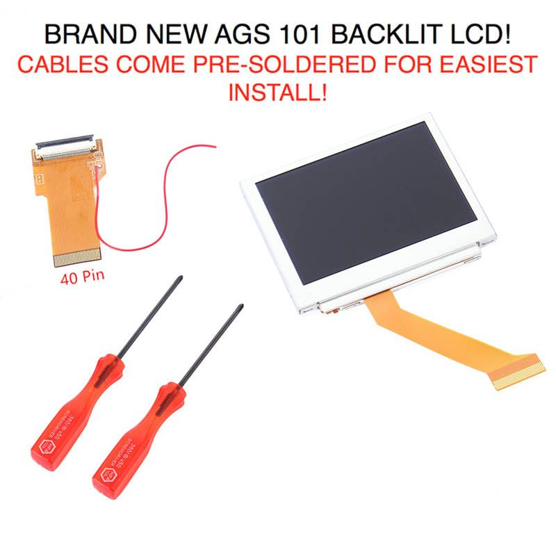 New Arrival for Gameboy Advance MOD LCD Backlight Kit 40 Pin for GBA SP AGS-101 Backlit Screen