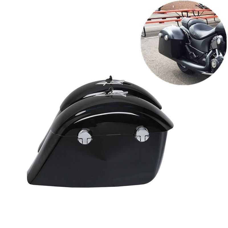 Motorcycle Painted Saddle Bag Trunk W/ Electronic Latch Key For Indian Chieftain Dark Horse Roadmaster Springfield
