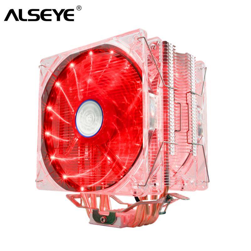 ALSEYE EDDY-120 CPU Cooler 4 Heatpipes PWM 4pin 120mm Fan Cooler for LGA 775/115x/AM2/AM3/AM4 TDP 220W