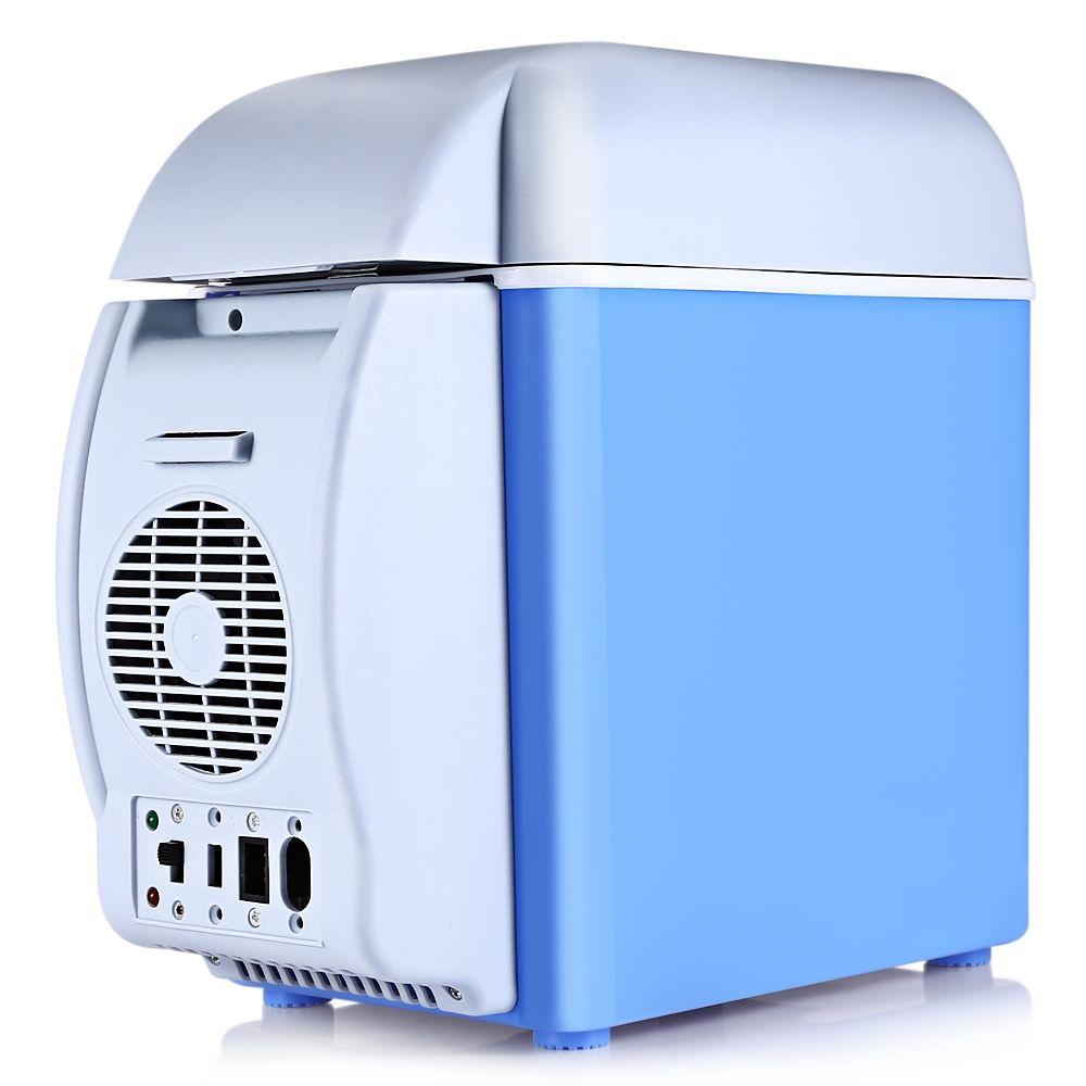 Free Shipping Super 12V 7.5L Capacity Portable Car Refrigerator Cooler Warmer NEW Truck Electric Fridge Vehicular Travel RV Boat