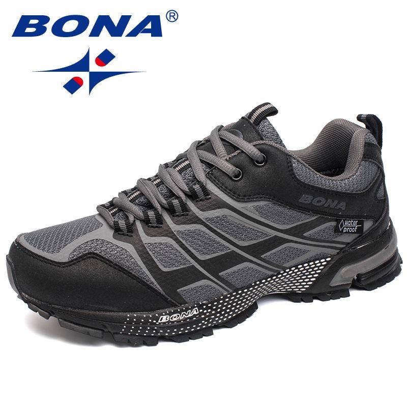 BONA Neue Klassiker Stil Männer Laufschuhe Outdoor Walking Jogging Turnschuhe Schnüren Mesh Oberen Sportschuhe Schnelles Freies Verschiffen