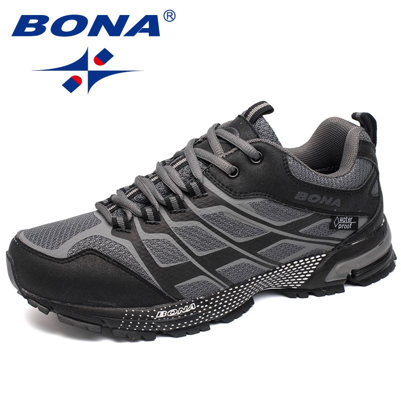 BONA New Classics Style Men Running Shoes Outdoor Walking Jogging Sneakers Lace Up Mesh Upper Athletic Shoes Fast Free Shipping