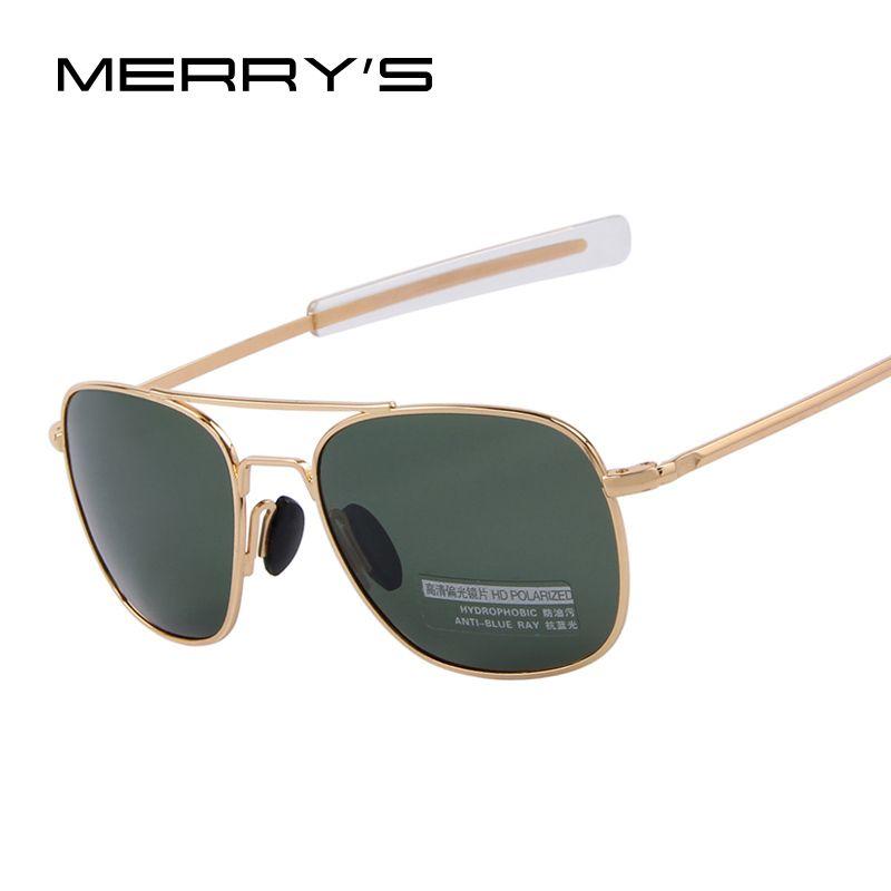 2018 nouvelle armée militaire AO lunettes de soleil en alliage américain cadre qualité lunettes de soleil polarisées