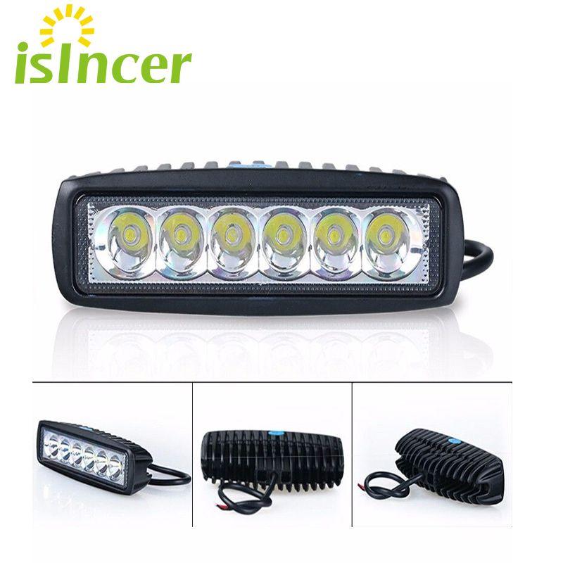2pcs Spotlight Flood 12V 18W Car LED Work Light Bar LED Light Work Lamp Driving Running Light Fog Offroad SUV 4WD Boat Tractor